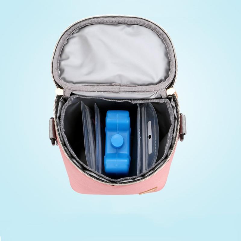 Купить с кэшбэком Mummy Breast Milk Insulation Bags Food Thermal Bag Maternity Handbag Baby Cooler Bag Shoulder Bag