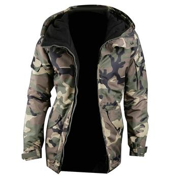 Christmas autumn and winter warm men's camouflage printed jacket zipper long sleeve simple comfortable jacket