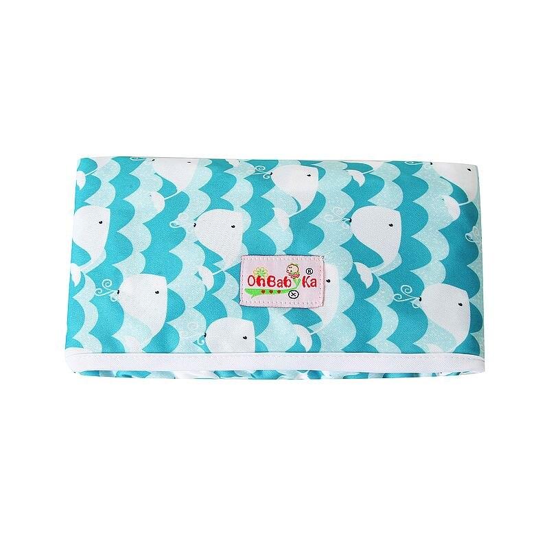 Новые 3 в 1 Водонепроницаемый пеленальный коврик пеленки мнчества, Портативный чехол для детских подгузников коврик чистой ручной складной сумка из узорчатой ткани - Цвет: HND03