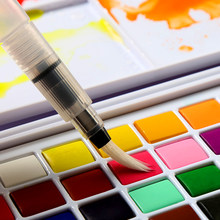 Portátil de alta qualidade 36 cores sólido pigmento aquarela tintas conjunto com esponja escova caneta para pintura profissional arte suprimentos