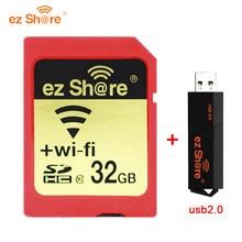 EZ Share – carte SD/WIFI sans fil, 16 go/32 go/64 go, SDHC/SDXC, classe 10, usb, mémoire Flash, nouveauté, tendance, livraison gratuite