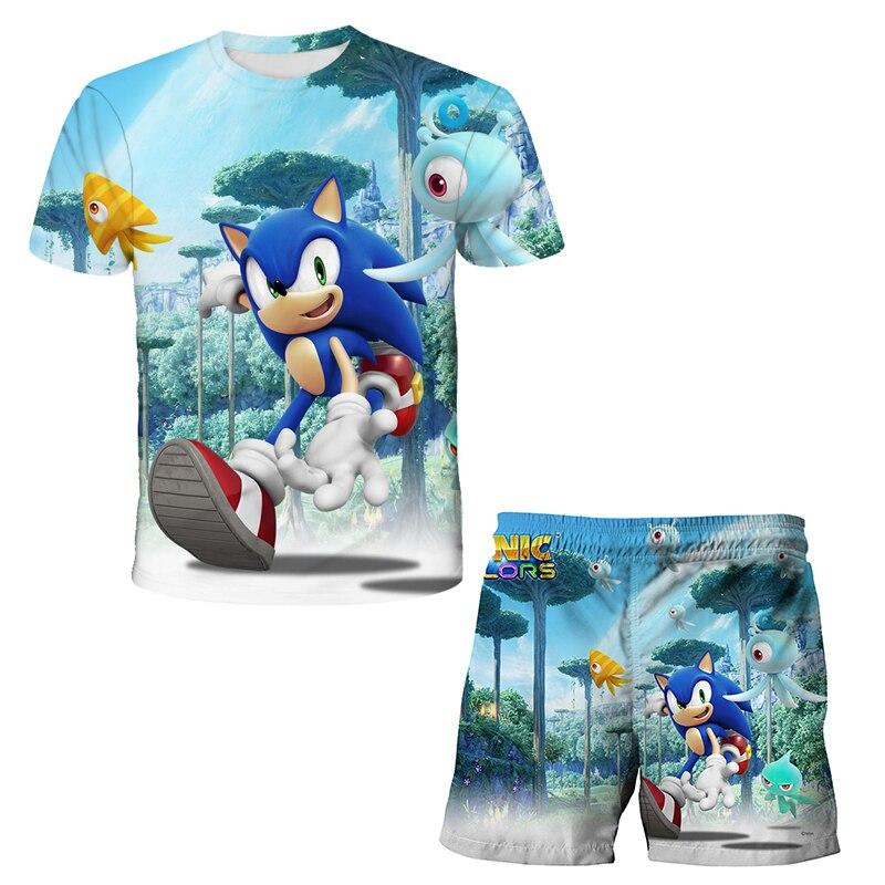 3D Printed Set Tween Girls Set Top + Shorts 2 Piece Sportsuit Baby Kid Dress Set Boy T-Shirt/Shorts