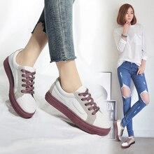 Nuevos zapatos de marca zapatillas de deporte casuales de lona vulcanizadas para mujer zapatos para mujer con cordones a la moda, calzado femenino Tenis femeninos Ayakkabi