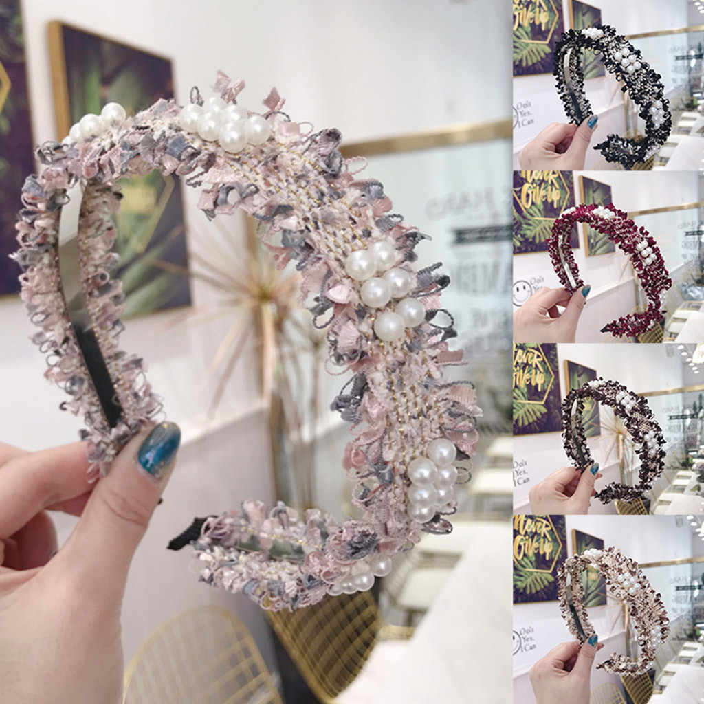 Raw edge beaded Fine edge Women headband light headband Casual Female Hair Sweet Girl Elegant Female Accessories Hairpins
