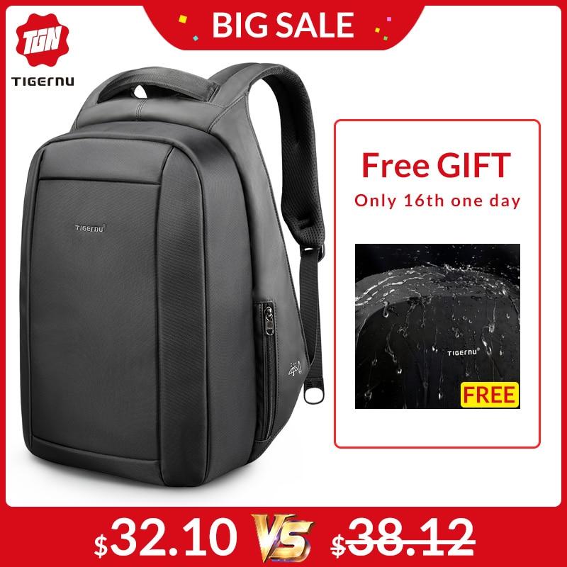Tigernu étanche Anti-vol mâle Mochila 15.6 pouces sac à dos pour ordinateur portable hommes USB sacs à dos sacs d'école sac à dos pour les adolescents sac de voyage