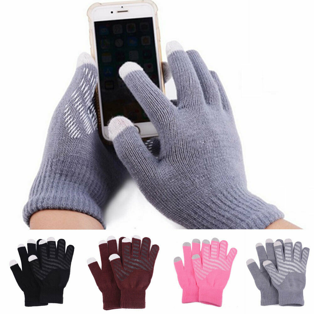 Winter Weiche Handschuhe Männer Frauen Touchscreen Handschuh Frauen Sms Outdoor Kapazitive Smartphone Stretchy Winddicht Stricken Warme Handschuhe image