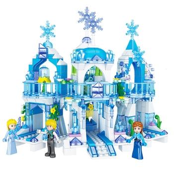 Snow Castle GIRLS Princess Iceland Model Educational Assembled Building Blocks Toy