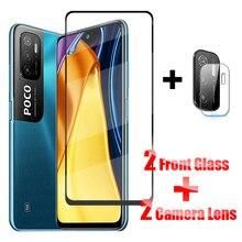 Full Cover Glass on Poco M3 Pro 5G Tempered Glass For Xiaomi Poco M3 Pro X3 NFC F3 Screen Protector Poco M3 Pro 5G Camera Glass