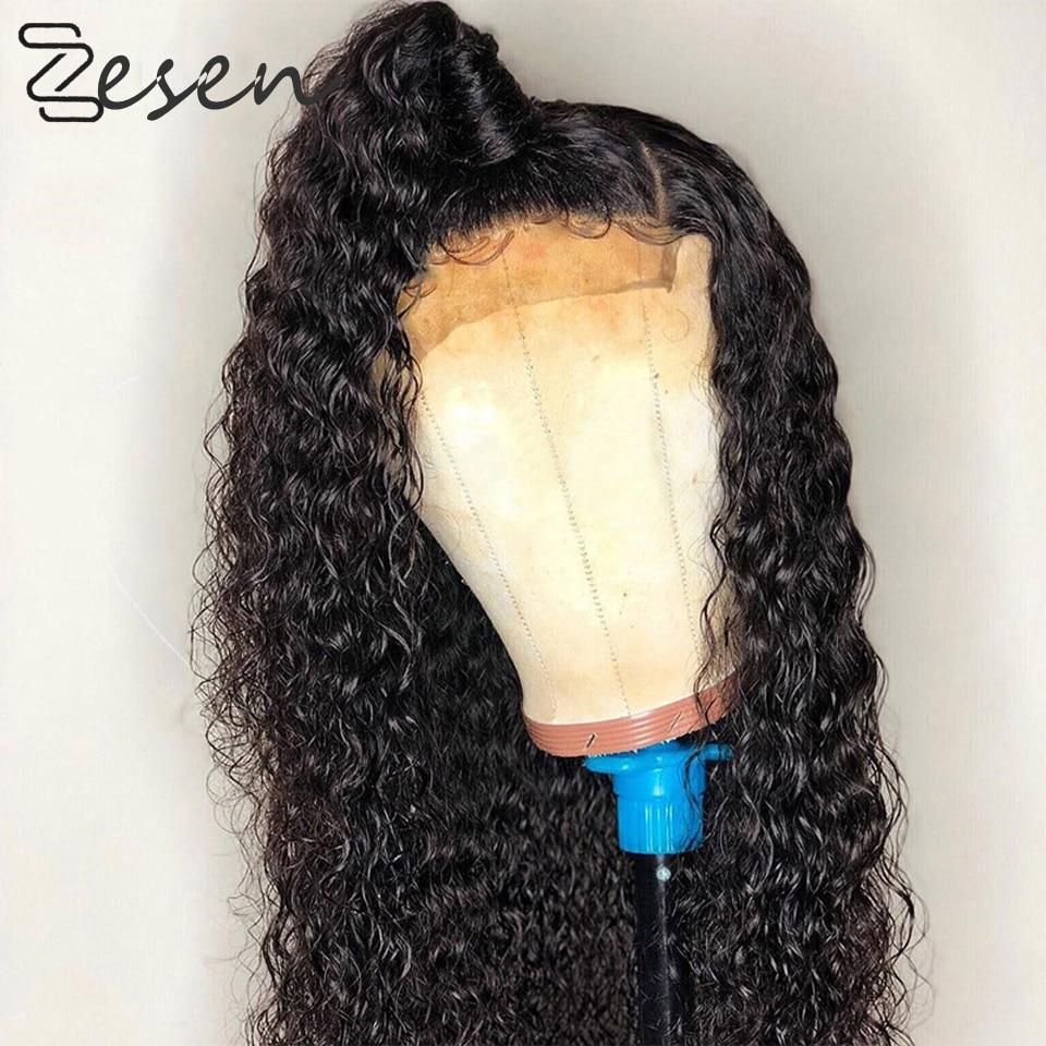 13x4 perucas sintéticas pretas da parte dianteira