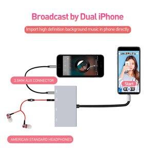Image 3 - 8 контактный разъем для наушников Aux, USB аудио интерфейс, адаптер для вещания, синхронизации, зарядки, совместим с iOS 9 12 iPhone iPad Mini
