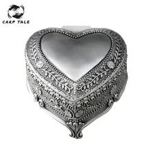 Jewelry-Box Music-Box Hand-Crank Treasure Birthday-Gift Metal Girls Honey Princess Chest