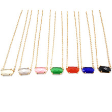 2019 July Gold Tone 3D New Small Oval Cats Eye Inlay Choker Pendant Necklace Better Quality Cute Oval Pendant Necklace