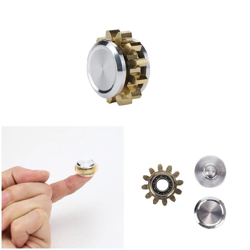 High Quality MINI Gear Copper Alloy Spinner Fidget Hand Spinner Finger EDC Focus Toys Gift
