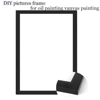 Brand Natural Wood Frame For Canvas Painting Picture Factory Provide DIY Wall Photo Frame Poster Frame quadros de parede para sa