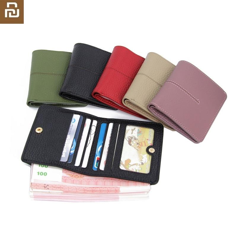 2020 yeni yeni bayanlar basit küçük cüzdan deri toka ultra-ince çok kart kart durumda erkekler iş kart tutucu bozuk para cüzdanı