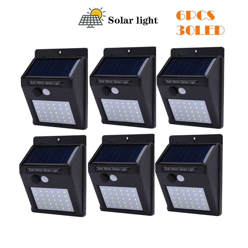 30/40 LED Lamp Solar Garland Power Lamp PIR Motion Sensor Wall Light Outdoor Solar Lighting Waterproof Energy Garden Light