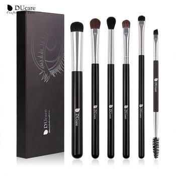 DUcare Eyeshadow Brush 4/6/7/8PCS Makeup Brushes Blending Eyebrow Brush Nature Bristles Synthetic  Hair Eye Shadow Brush Set