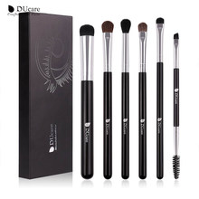 DUcare Lidschatten Pinsel 4/6/8PCS Make-Up Pinsel set Blending Augenbrauen Pinsel Natur Haar Synthetische Haar Auge schatten Pinsel Set(China)