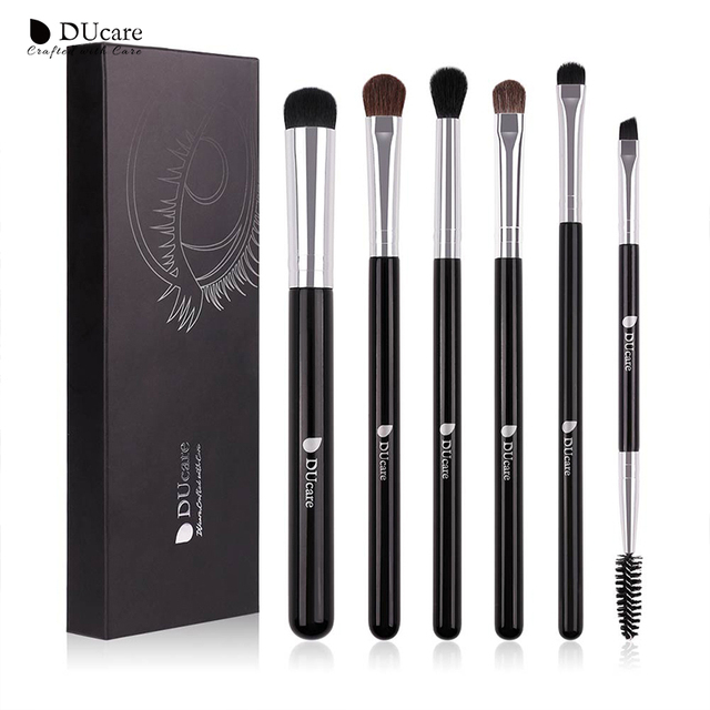 DUcare Eyeshadow Brush 4/6/8PCS Makeup Brush set Blending Eyebrow Brush Nature Hair Synthetic  Hair Eye Shadow Brush Set 1