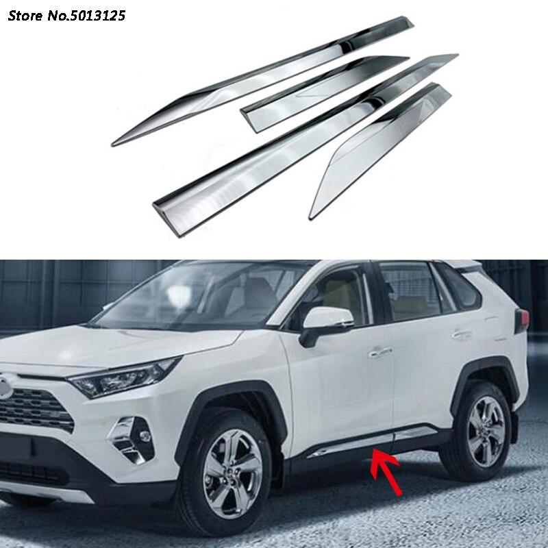 Отделка боковой двери кузова автомобиля полоса литья поток панели бампера капоты литье для Toyota RAV4 RAV 4 2019 2020 автомобильные аксессуары