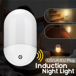Luz Nocturna LED automática, enchufe de pared con Sensor de anochecer y Amanecer, lámpara blanca cálida, enchufe para EE. UU./REINO UNIDO/UE