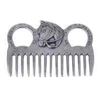 Stainless Steel Polished Horse Pony Curry Comb Grooming Comb Tool Currycomb Accessory Horse Riding Equipment