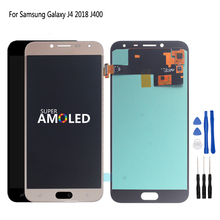 Original For Samsung Galaxy J4 2018 Screen Display Touch Screen Digitizer Assembly Replacement AMOLED J400 J400F Free Tools