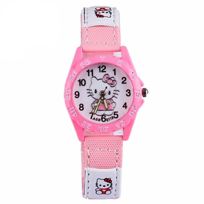 Дисней лед и снег часы девочка кварц часы isa мультфильм дети девочка водонепроницаемый милый женщина часы Hello Kitty