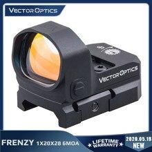 Óptica vectorial de frenesí-X 1x20x28 punto rojo alcance 6 MOA revólver vista caza Rilfescope una Glock de 9mm AR AK 5,56 de 7,62 308win