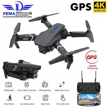 FEMA Professional GPS Drone with Camera HD 4K / 1080P 5G Wifi FPV Wide Angle Foldable Mini Dron RC Quadcopter GPS VS E520S SG907 дрон jjrc x9 heron с камерой hd 1080p wifi gps