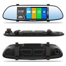 HD 1080P Driving Recorder Dual Lens 7 Inch Wide View Angle Vehicle Rearview Mirror Camera Recorder Car DVR Dash Cam sinairyu 3d hd car 4 ch dvr recorder surround view monitoring system 360 degree driving bird view panorama with 4 cameras