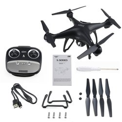 4 Axes S70W Full HD 1080P 90 Degree Wide Angle Dual GPS-2.4GHz WiFi/FPV Drone Quad Copter RC Helicopters Aircraft