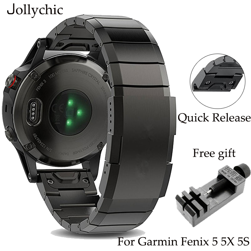 Strap Watch-Bands Quick-Install Garmin Fenix Metal Stainless-Steel 20mm 26mm 22mm Classic