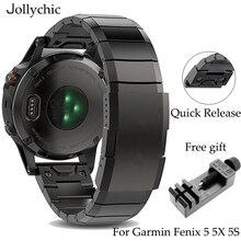 20mm 22mm 26mm נירוסטה רצועת עבור Garmin Fenix 6 6X 5 5X 5S קלאסי מהיר להתקין מתכת שעון להקות אופנה שעון רצועות