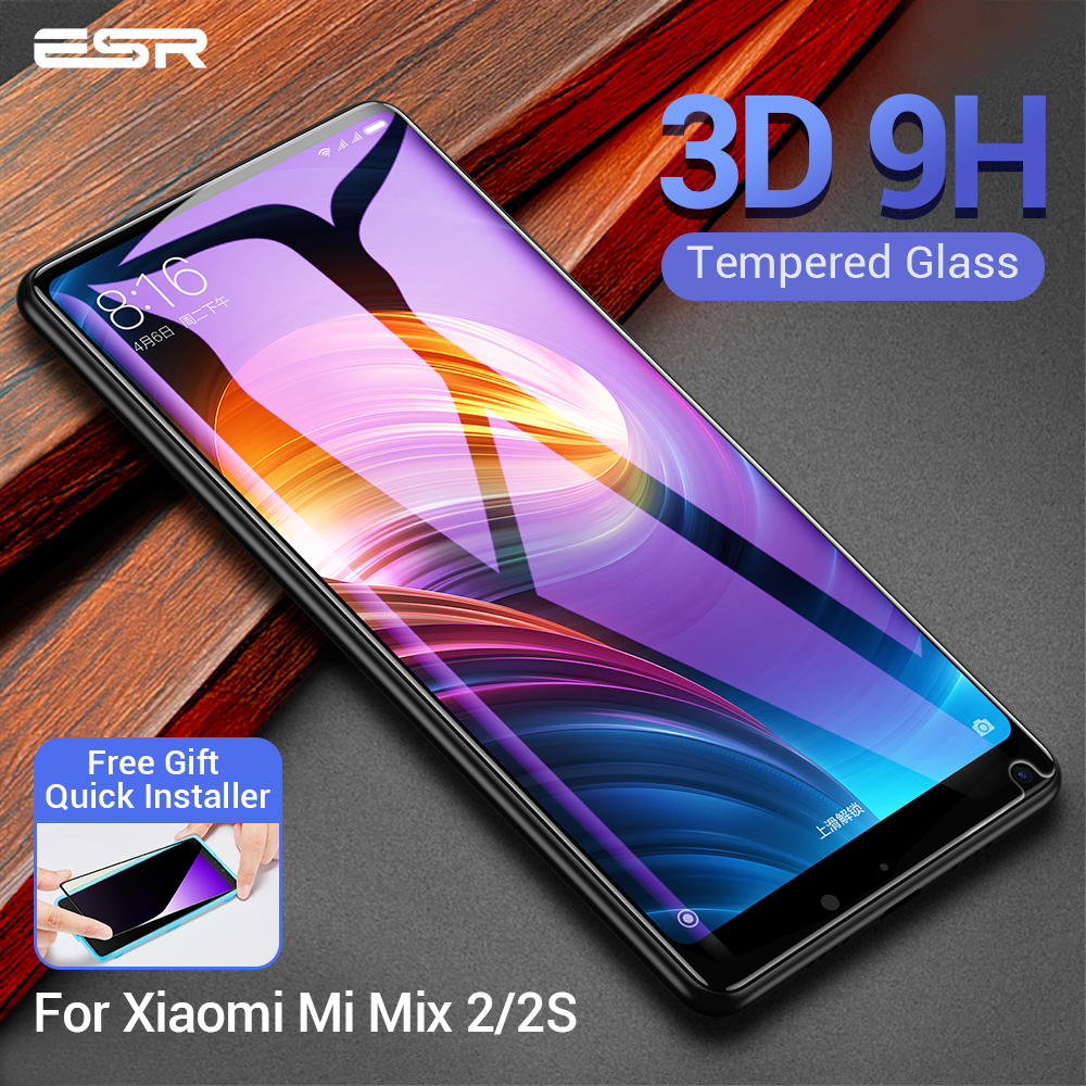 ESR For Xiaomi Mi MIX 2 2S Tempered Glass 3D 9H Anti Blu-ray Full Cover Phone Screen Protector Glass Xiaomi Mi Mix2s Mix 2 S