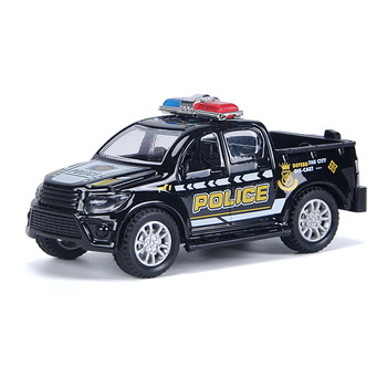 1:43 Alloy Diecast Pickup Trucks Kids Police Series Car Toys Model Pull Back Fire Rescue Vehicle Toy For Boys Children Gift S029 image