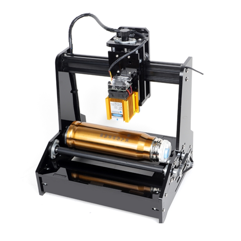 15W Mini 3D Laser Kennzeichnung Maschine CNC Laser Stecher Rotary Achse Gravur Bereich 100mm * 200mm für metall, stahl, Aluminium