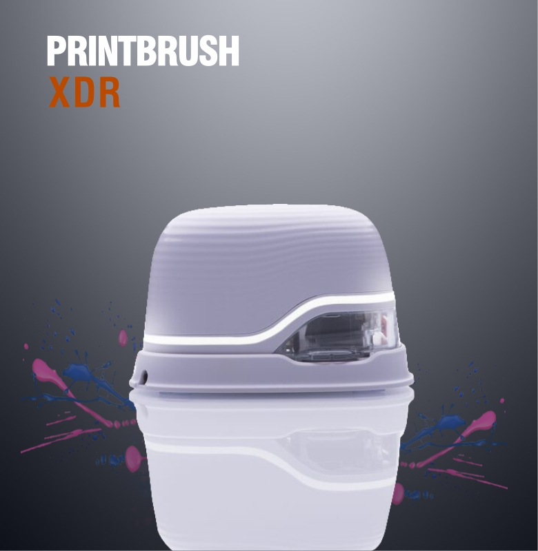 PrintBrush XDR  Mini Color Bar Code Printer Inkjet Custom Tattoo Photo Logo Code Portable Handheld Printer