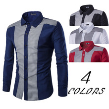 Zogaa 2019 New Classical Shirts Male Men Spring Autumn Long Sleeve Turn-down Collar Formal Business Social