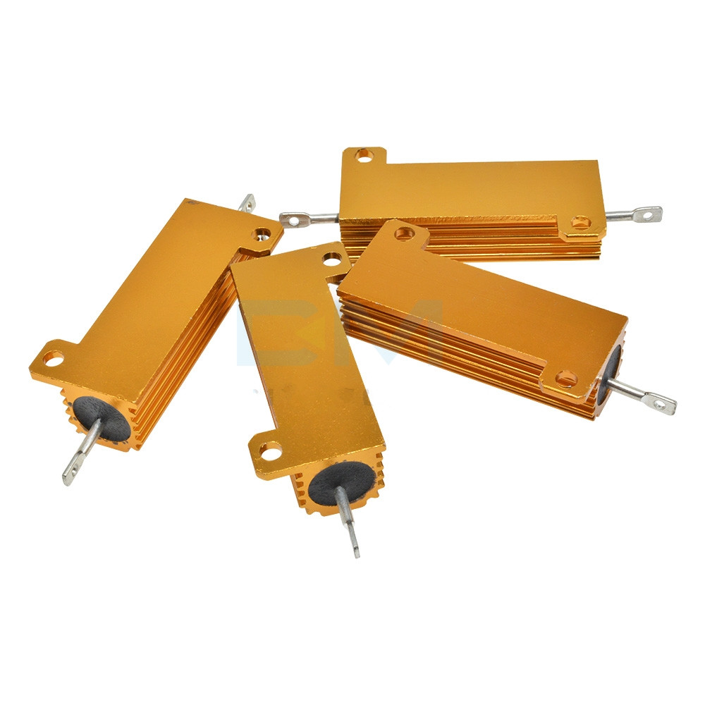 RXG24 50W Aluminum Shell Housed Case Power Wirewound Resistor 35/50/60/100/150/200/300/400/500R Ohm 1pc