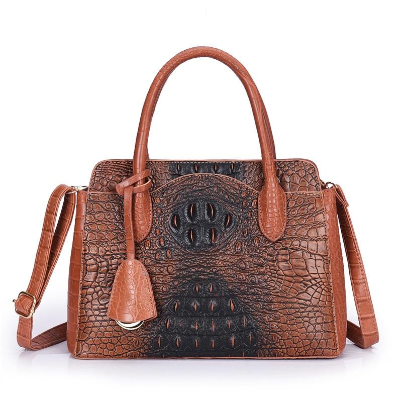 2020 Luxury Handbags Women Bags Designer Crocodile Pattern Shoulder Bag Ladies Hand Bags Leather Large Capacity Bags Sac A Main