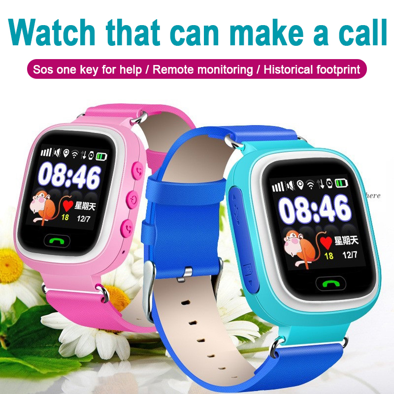 <font><b>Q90</b></font> <font><b>GPS</b></font> Kids Smart Watch Baby Anti-lost Watches SOS Call Location Tracker for Children Safe Watch English image