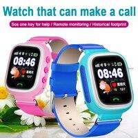 Q90 gps crianças relógio inteligente bebê anti-lost relógios sos chamada localização rastreador para crianças relógio seguro inglês