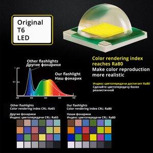 Image 4 - Фонарик для дайвинга IP68, погружной фонарь с поворотным переключателем 100 метров, индекс цветопередачи Ra80, амфибий с аккумулятором 18650/26650