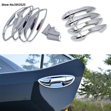 Car Styling ABS Chrome handle Protective Cover Door Handle Outer Bowls Trim For Toyota Corolla 2014 2015 2016 2017 2018