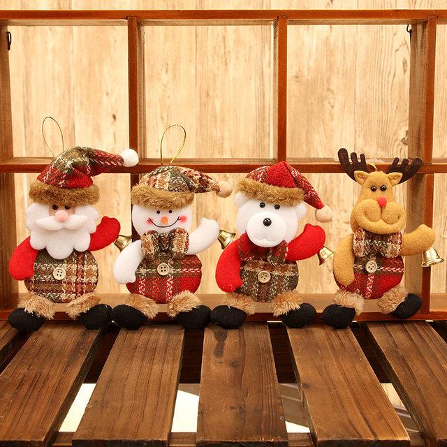 New Year 2020 Cute Santa Claus/Snowman/Angel Christmas Dolls Noel Christmas Tree Decoration for Home Xmas Navidad 2019 Kids Gift 26