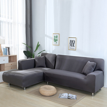 Фото - Slipcover For Sofa Sectional  Cover L-Shaped Polyester  Slipcover L Shape Solid  Couch Stretch Furniture  Covers Protector D30 microsuede couch slipcover cream 270 x 350 cm