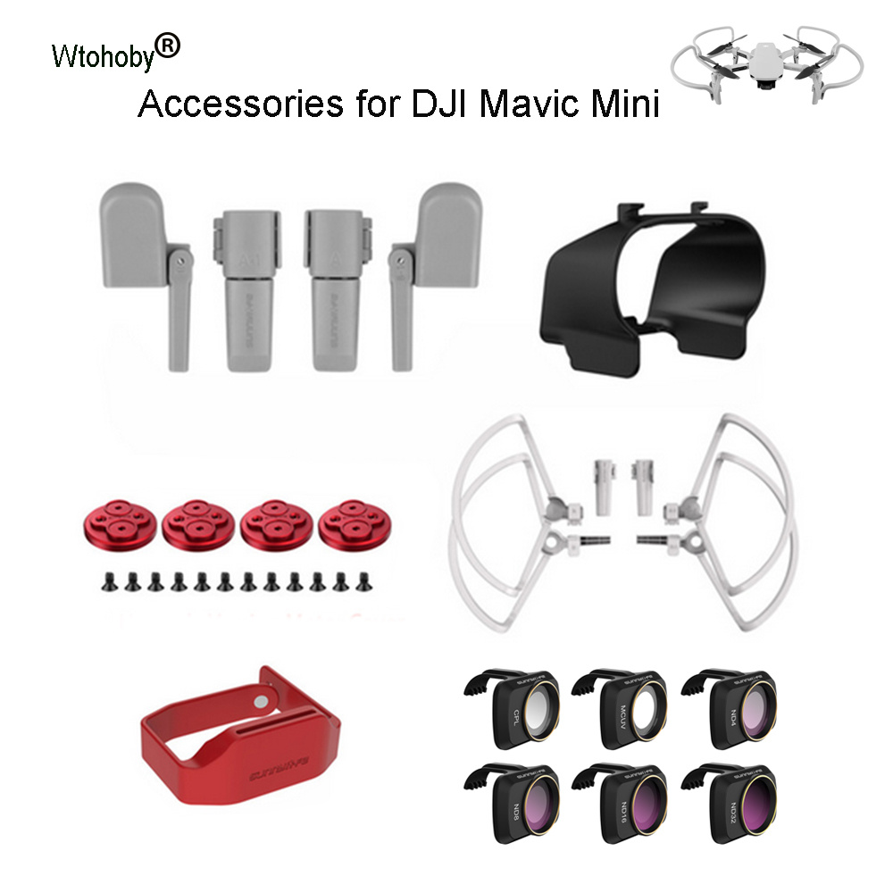 Drone Profissional Accessories Lens Filters Landing Gear Motor Cover Propeller Holder Sun Hood for DJI Mavic Mini Quadcopter