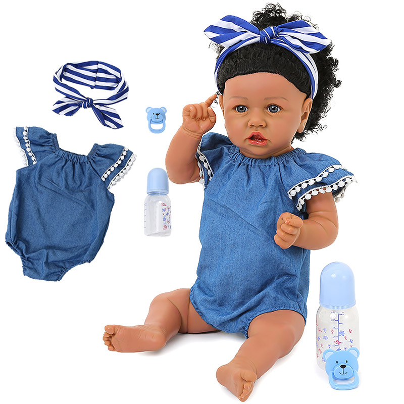 <font><b>24inch</b></font> Bebes Reborn Doll 60cm Soft Silicone Reborn Toddler Baby Lifelike Dolls Menina Christmas Surprice Gifts Doll For Children image