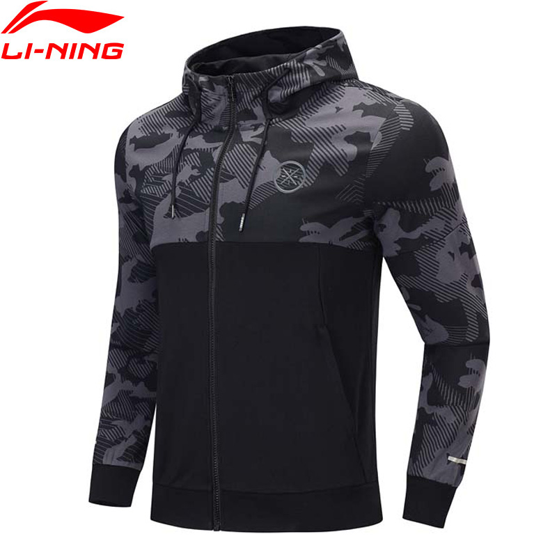Li-Ning Men Wade Hoodie Comfort Regular Fit Hooded Cotton Polyester Printing Li Ning LiNing Sports Sweaters AWDP437 MWW1600